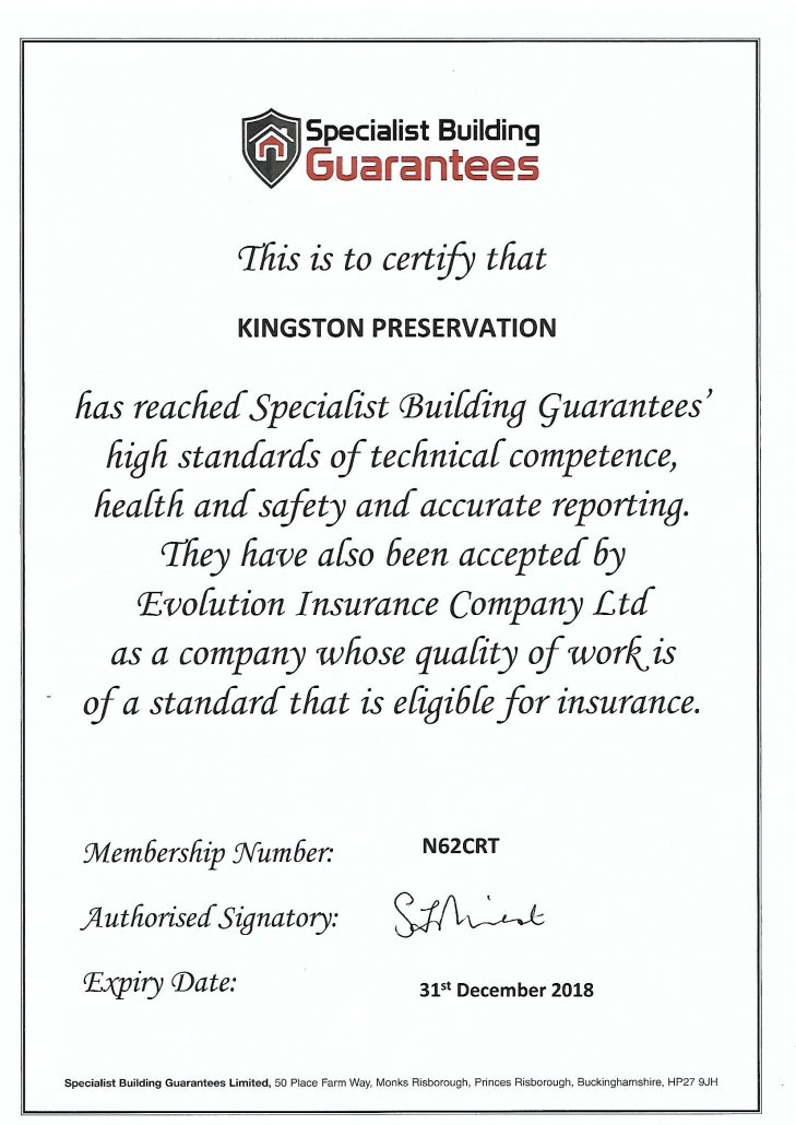 SBG Approved Certificate